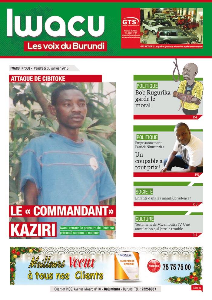 IWACU Hebdomadaire n°308