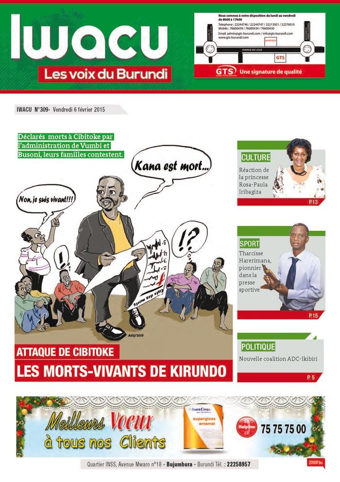 IWACU Hebdomadaire n°309