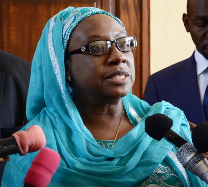 Aisha Laraba Abdullahi : « L'Union Africaine n'a pas encore arrêté une position sur la question d'un éventuel mandat du président Nkurunziza. » ©Iwacu