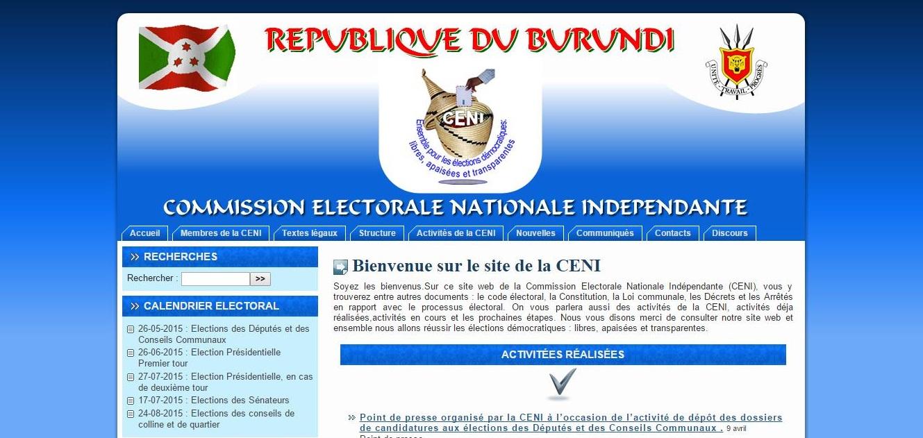 site de la Ceni