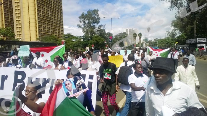 Des manifestants burundais à Nairobi