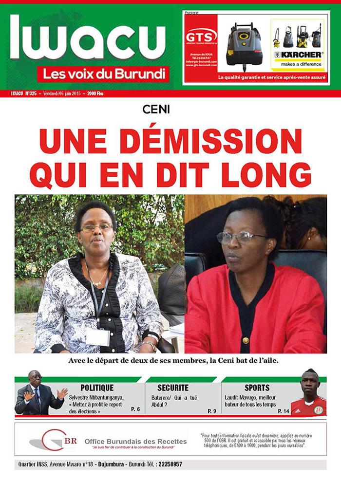 IWACU Hebdomadaire n°325