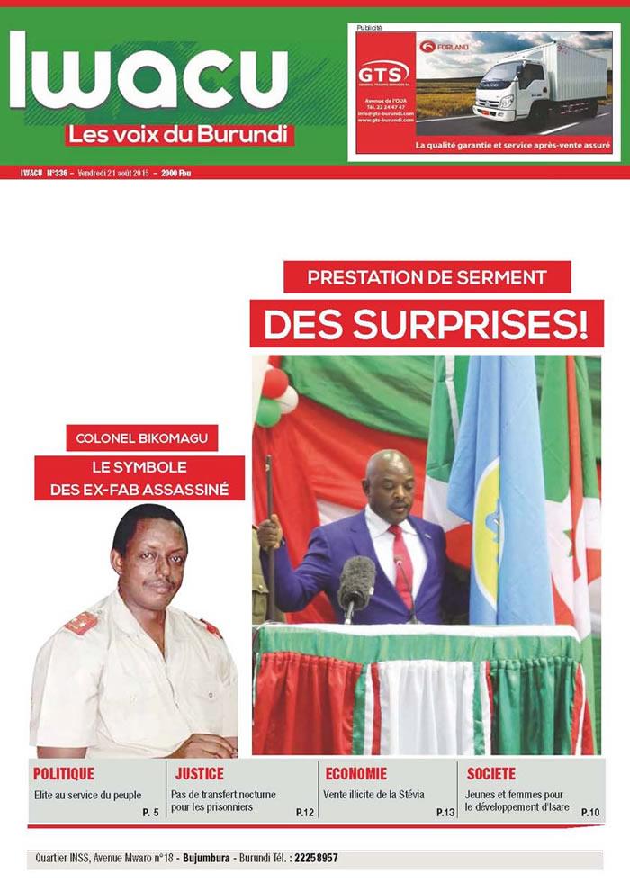 IWACU Hebdomadaire n°336