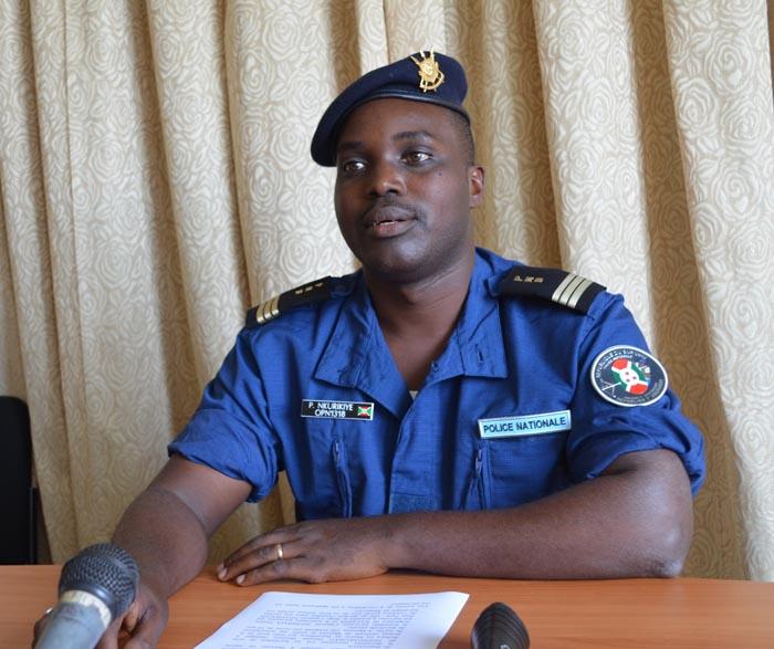 Pierre Nkurikiye : « Ce n'est pas nos agents qui les ont arrêtés.»