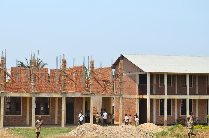 Des salles de classe en construction à l'Ecofo Jabe II