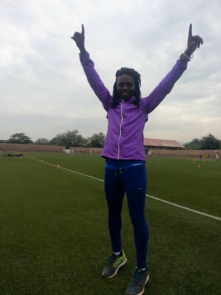 Francine Niyonsaba au Stade FFB, trois jours avant de s'envoler pour Padova et pour la gloire
