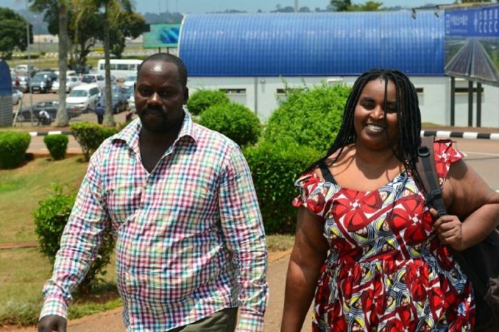 Pascal Nshimirimana avec sa femme Zygène