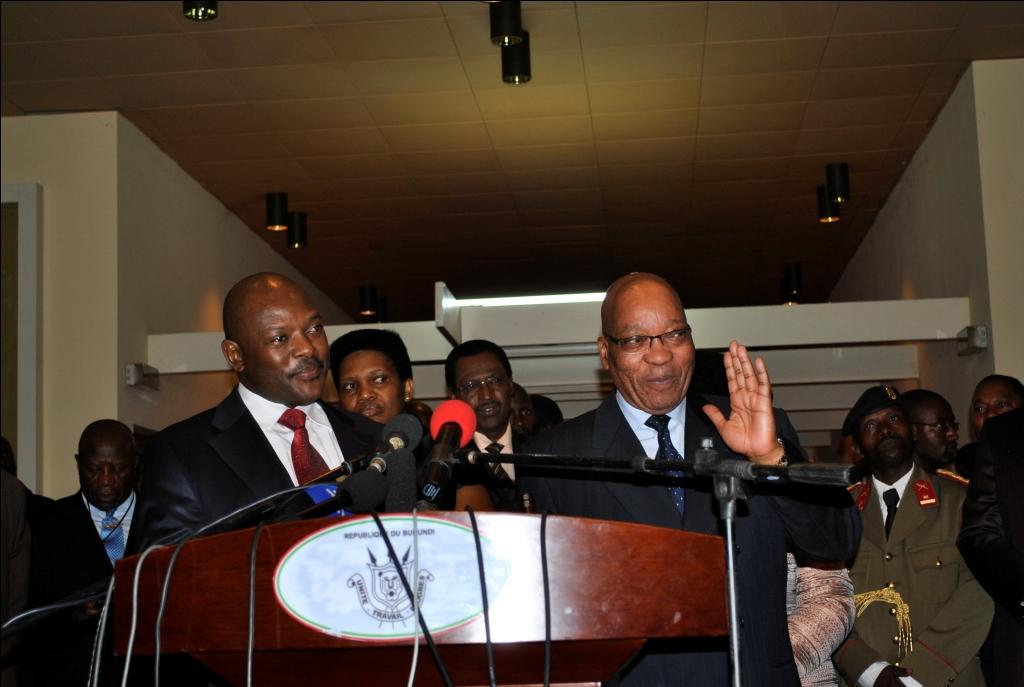 Le président Jacob Zuma en visite officielle au Burundi le 10 août 2011