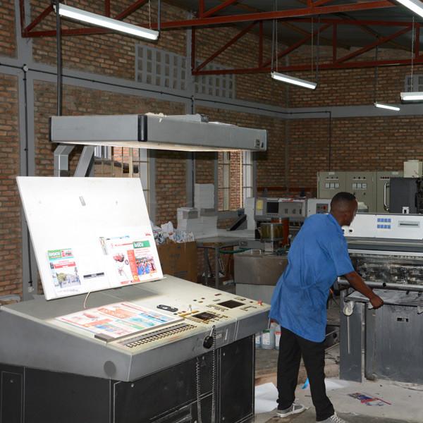 L'imprimerie d'Iwacu à Bujumbura