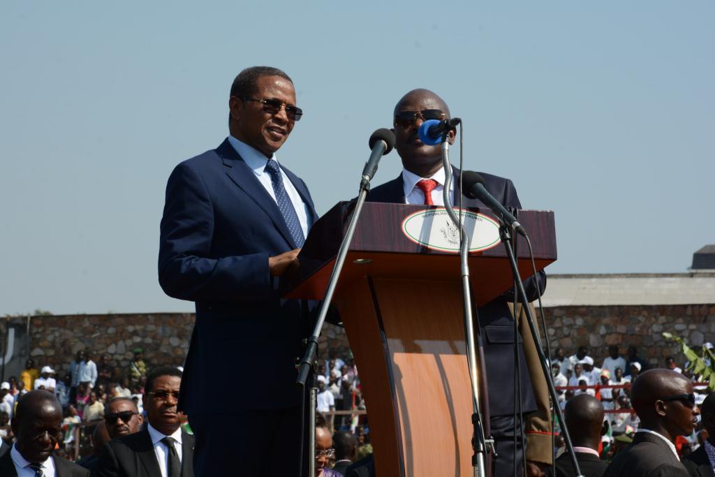Le président Nkurunziza avec son hôte Jakaya Kikwete le 1er juillet