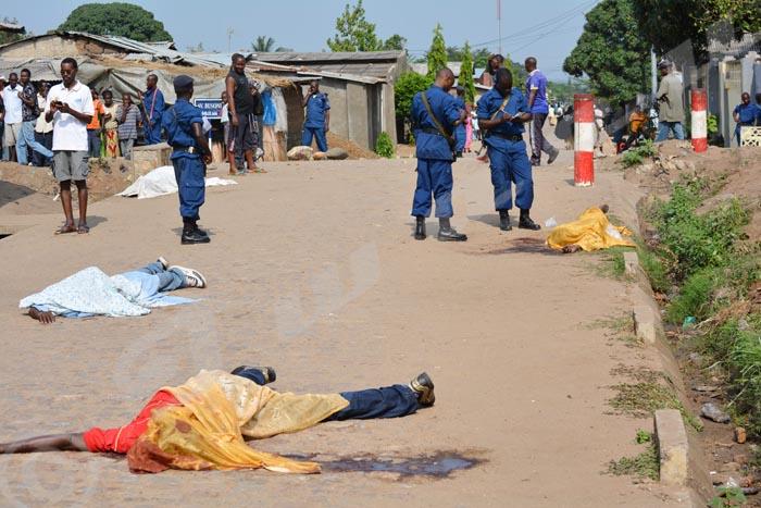 Scène macabre des tueries dans la ville de Bujumbura en 2015