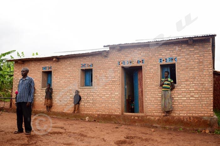 La maison en dur, de Noël Manirakiza, dont la construction a été possible grâce au projet PAIVA-B.