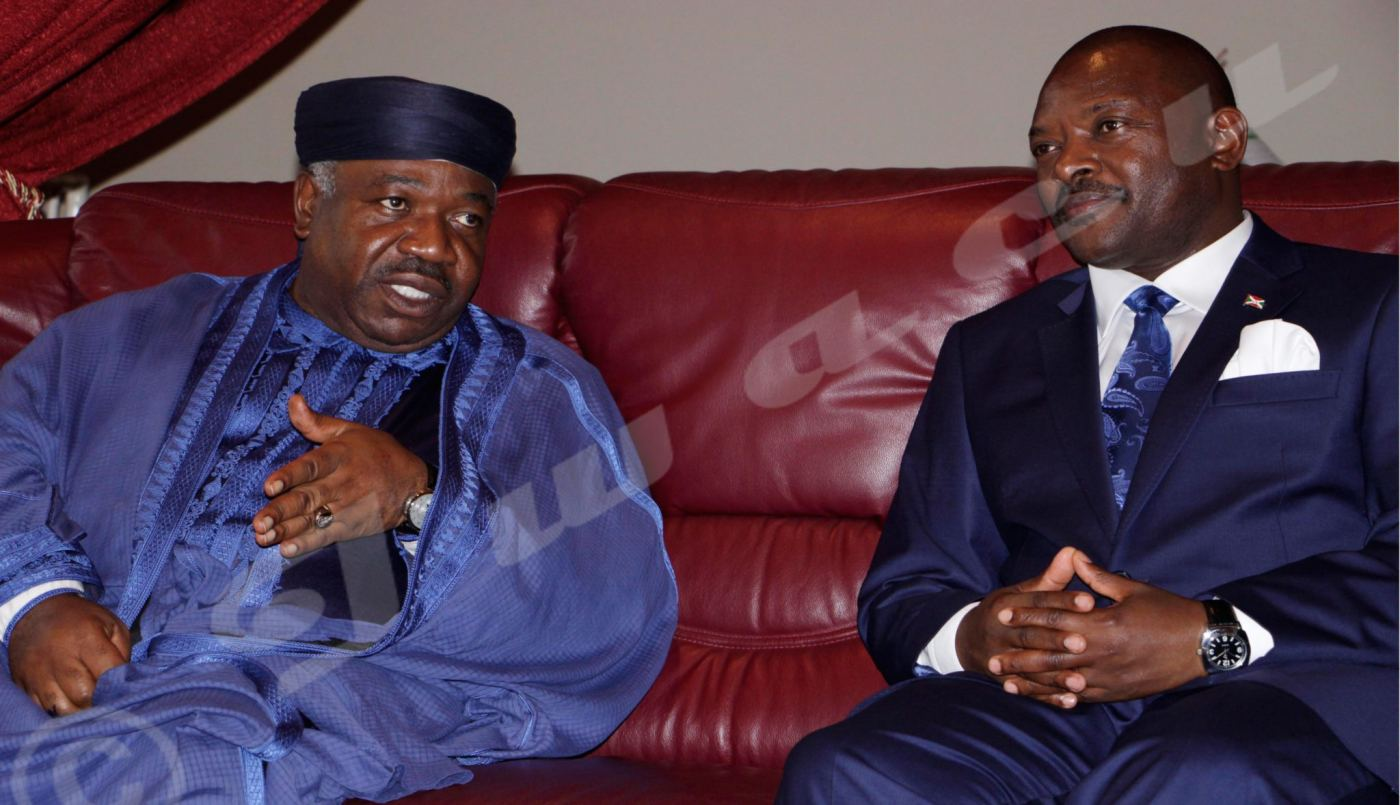 Ali Bongo en visite éclair à Bujumbura