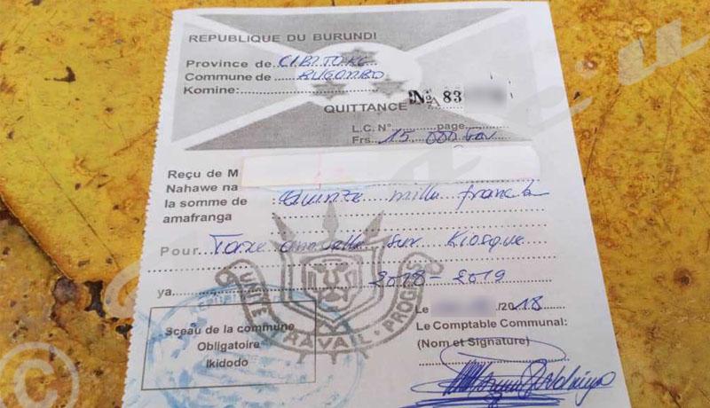Cibitoke : La commune Rugombo double les taxes avant la fin de l'année