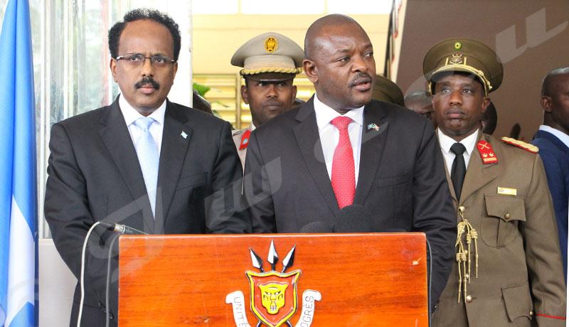 Du 18 au 19 février, Mohamed Abdoulahi, président somalien a effectué une visite au Burundi. Message au journalistes