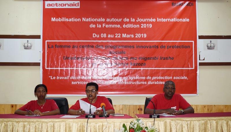 ActionAid engagée pour la valorisation du travail des femmes