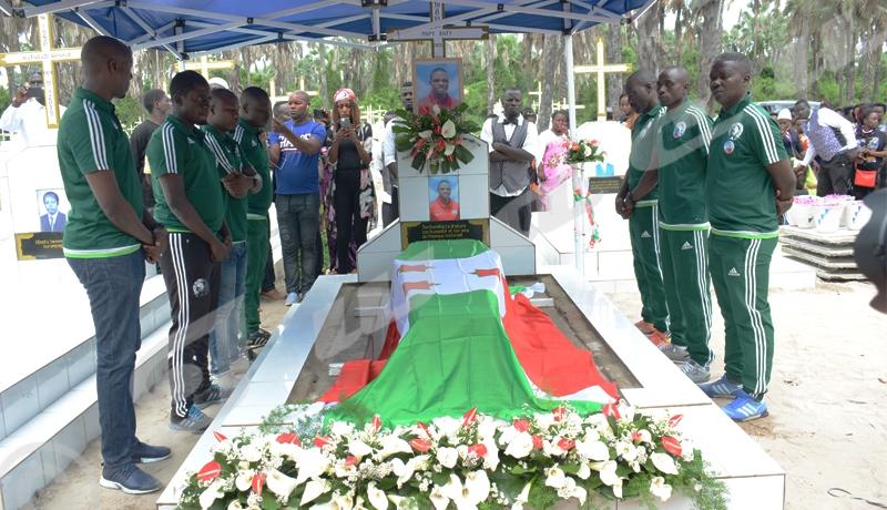 Vendredi, 10 mai 2019, Funérailles de l'International Papy Faty joueur de l'équipe nationale Intamba mu rugamba./©Térence Mpozenzi/Iwacu