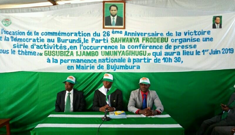 Le Frodebu  présente son programme politique pour les élections de 2020