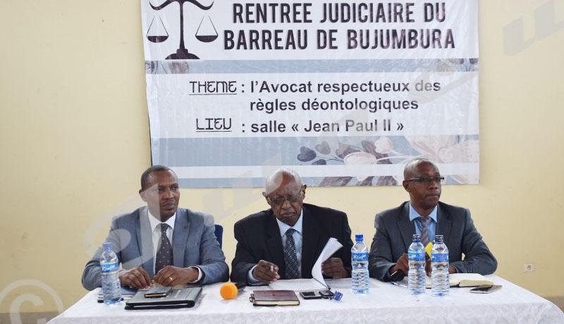 Le bâtonnier de Bujumbura met en garde ses confrères corrupteurs