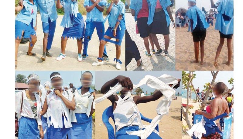 Le châtiment des élèves qui ont lacéré leurs uniformes, après l'examen d'Etat