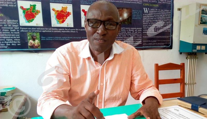 Interview exclusive :«Le sol du Burundi est essentiellement acide»