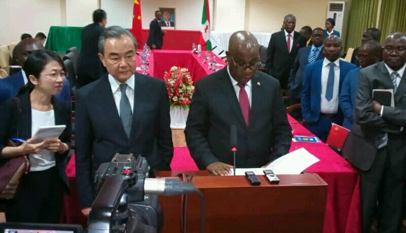Burundi/Chine : des relations fructueuses  et ''durables''