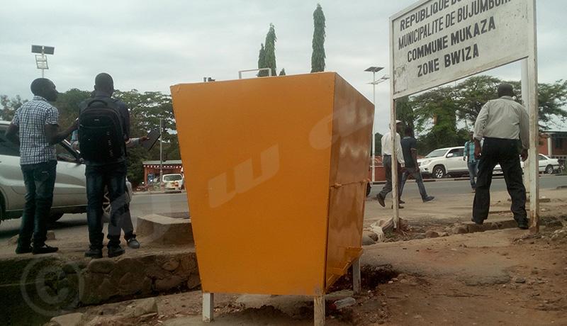 Commune Mukaza : poubelles publiques c'est quoi?