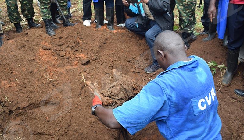 CVR: lancement des travaux d'exhumations à Bururi