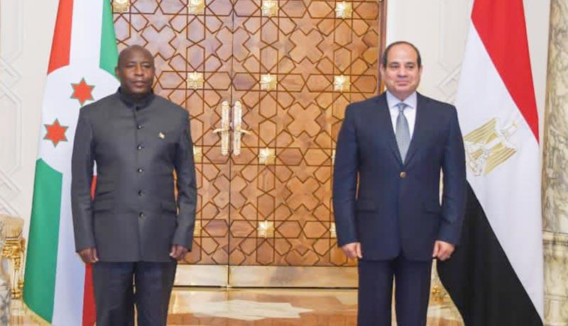 Le président Ndayishimiye exprime sa gratitude à son homologue égyptien