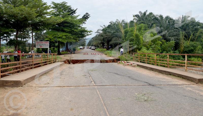 Effondrement du pont sur la rivière Murago : le trafic est presqu'à l'arrêt