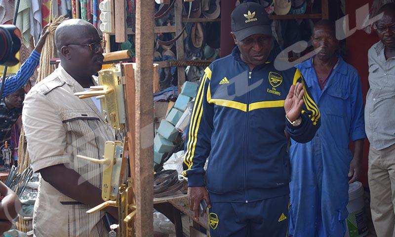 Les boutiques autour du marché de Jabe ont deux semaines pour vider les lieux