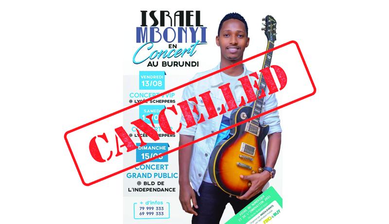 Burundi/Covid-19 : Annulation du concert du chanteur rwandais de gospel, les citadins restent pantois